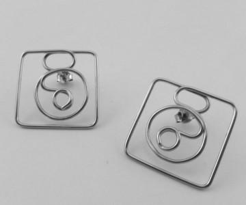 Serie Figúrate - Pendientes 2.5x2.5cm